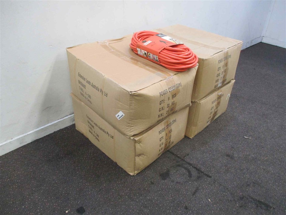 Extension Leads Aust 4 x Cartons of 20Mt Extension Leads