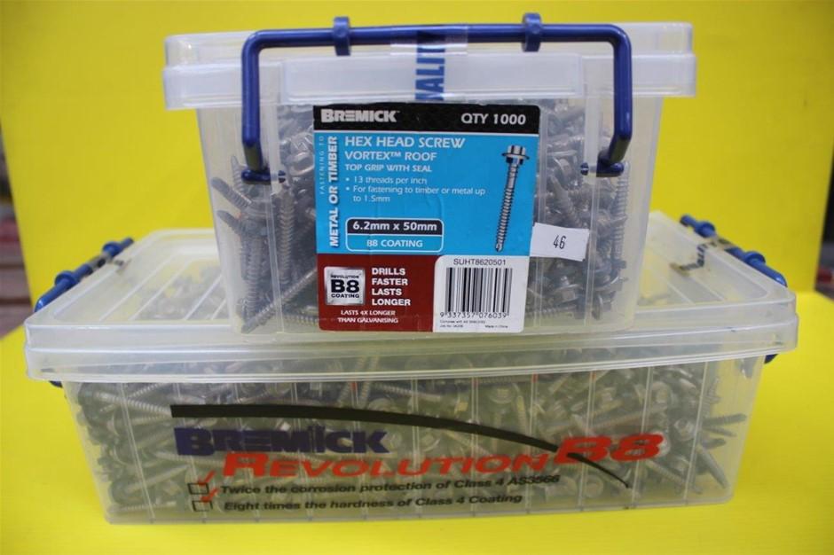 Bremick 6.2 x 50mm Hex Head Screws - 1000 Pack
