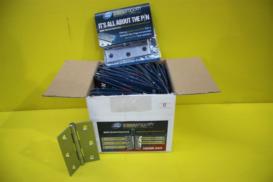 Box of 20 Zenith Dura Smooth Door Hinges Removable Pin