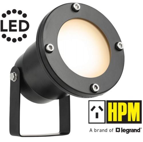 HPM TULI 12V LED Garden Light Pond Spotlight 4.5W Warm 3000K IP68 DIY Black