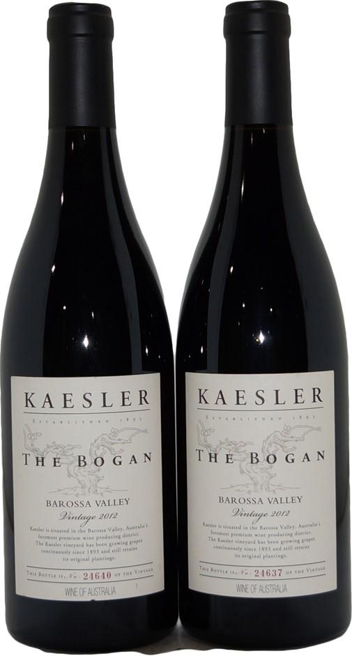 Kaesler The Bogan Barossa Valley Shiraz 2012 (2x 750mL), SA, Cork.