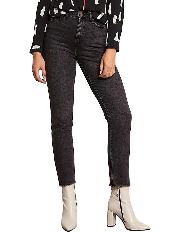 MINT VELVET Meribel Jean. Size 14, Colour: Black. Cotton, Elastane. ORP: $1