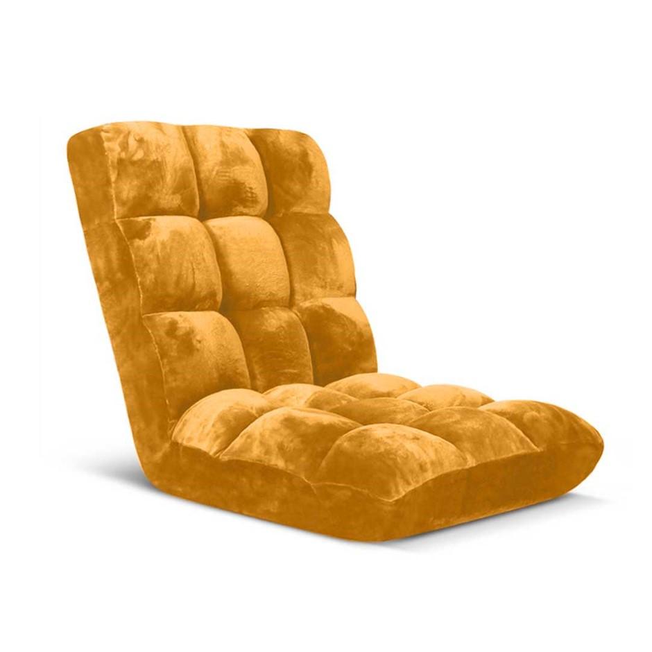 SOGA Floor Recliner Folding Lounge Sofa Futon Couch Chair Cushion Apricot