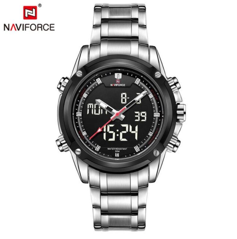 NAVIFORCE Men Classic SS Analog/Digital Seiko Movement W-R Watch