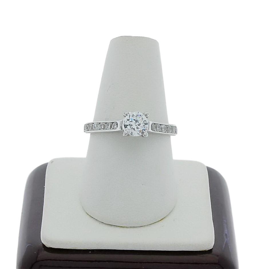 0.90 Carat Sterling Silver ring