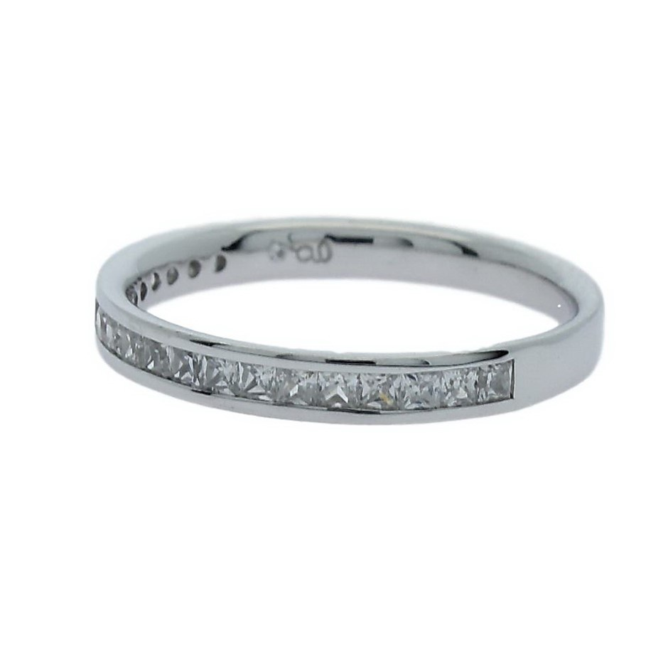0.42 Carat Sterling Silver matching band