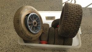 Box of Assorted Wheel-Barrow Wheels