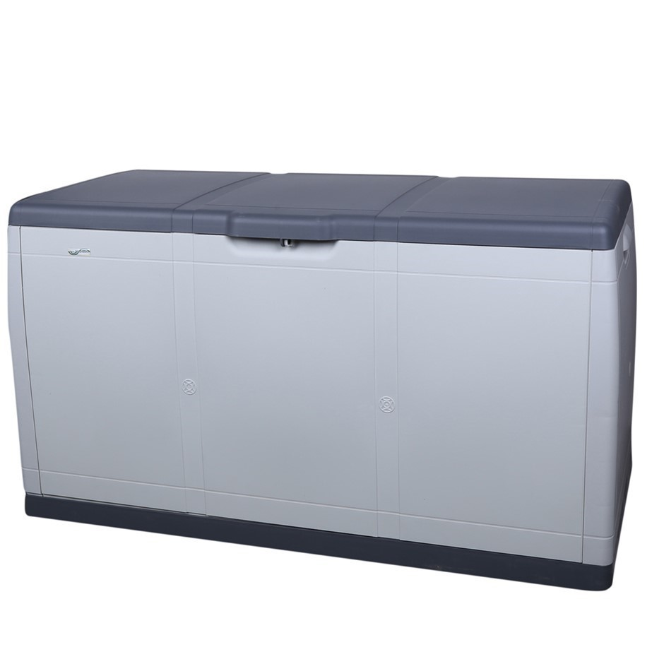 TRIOPLAST Resin Indoor/Outdoor Storage Box, 110 x 50 x 60cm, Grey/Charcoal,