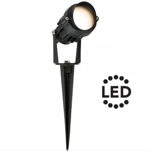 HPM The Lilo 12V LED Garden Light Spotlight 5W Warm White 3000K IP55 Black