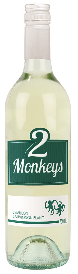 2 Monkeys Semillon Sauvignon Blanc 2020 (12 x 750mL) SEA