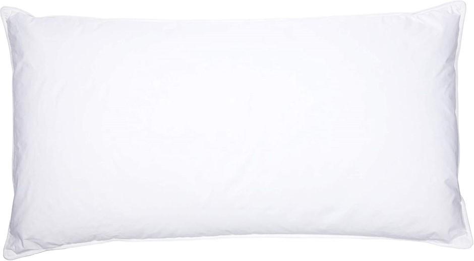 BAMBURY Luxus Feather Down Pillow Pillow, King. Cotton Cover, White Duck Do