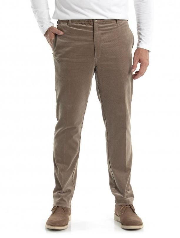 CITY CLUB Front Cotton Casual Trouser. Size 97R, Colour: Nut. Buyers Note -