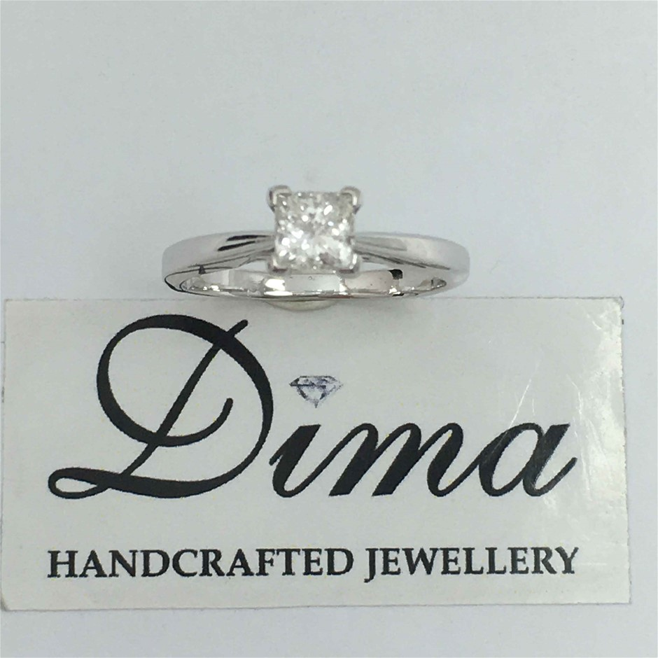 18ct White Gold, 0.52ct Diamond Ring