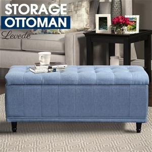 Levede Ottoman Blanket Box Fabric Rest C