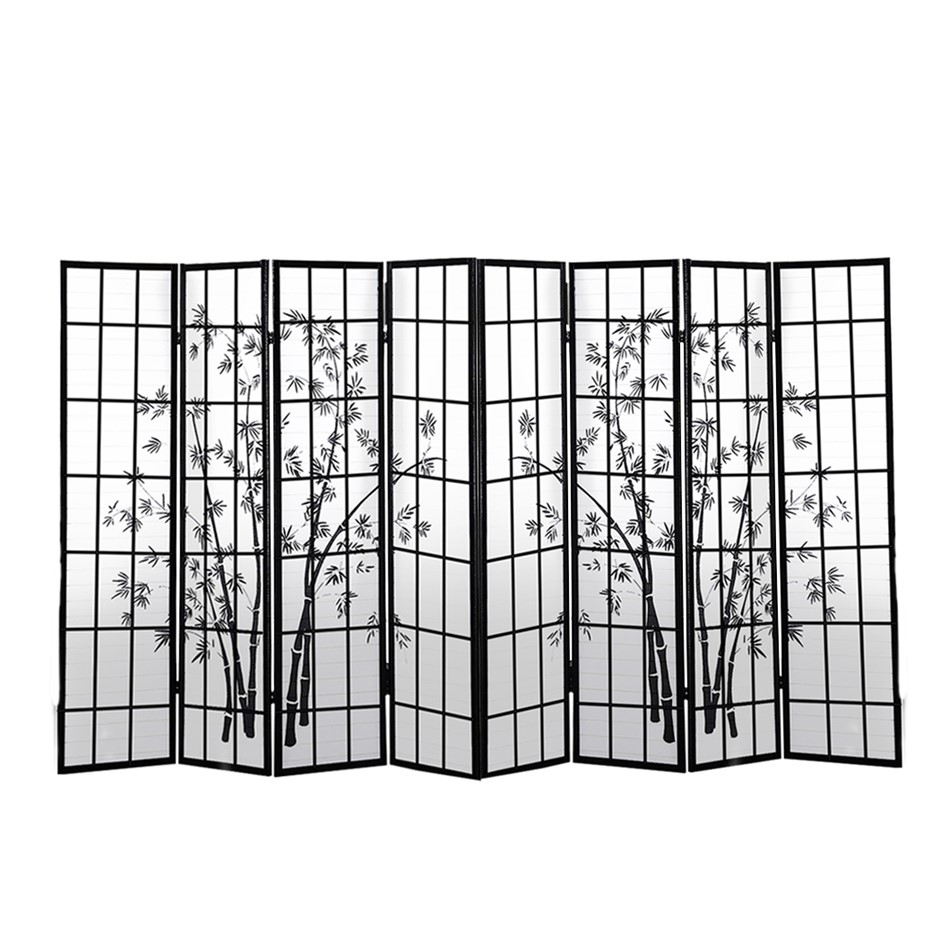 Levede 8 Panel Free Standing Foldable Room Divider Screen Bamboo Print