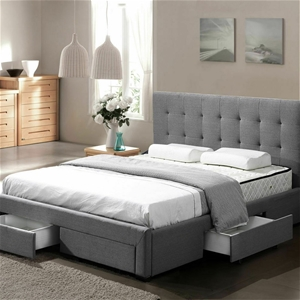 Levede Bed Frame Double King Fabric W/ D