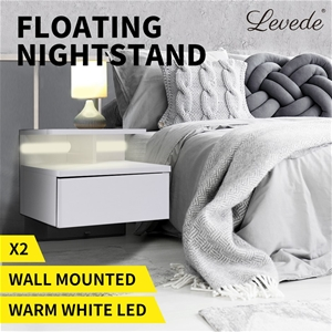 Levede Bedside Tables LED Wall Mounted C