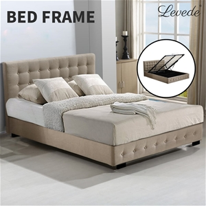 Levede Bed Frame Base With Gas Lift Quee