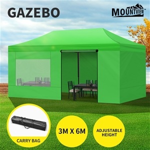 Mountview Gazebo Tent 3x6 Marquee Mesh S