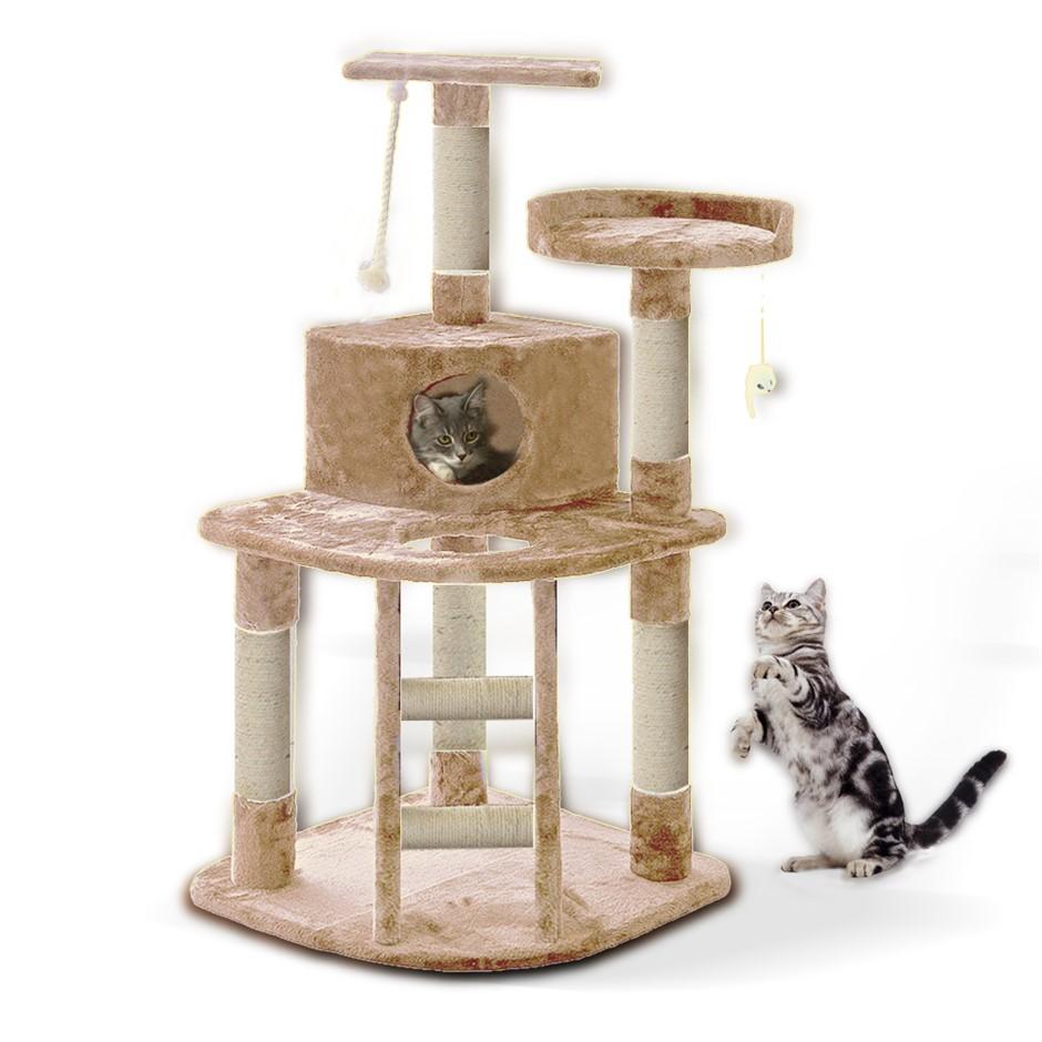 PaWz 1.2M Cat Scratching Post Tree Gym House Condo Furniture Scratcher