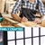 Levede 8 Panel Room Divider Screen Door Stand Privacy Fringe Wood Fold