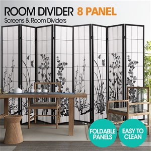 Levede 8 Panel Free Standing Foldable Ro