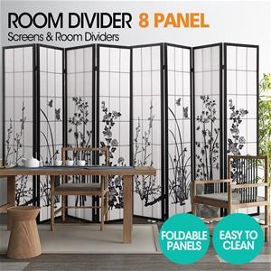 Levede Room Divider Screen 8 Panel Woode
