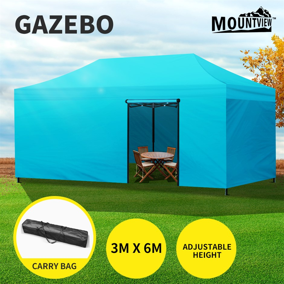 Mountview Gazebo Pop Up Marquee 3x6m Canopy Tent Outdoor Camping Folding