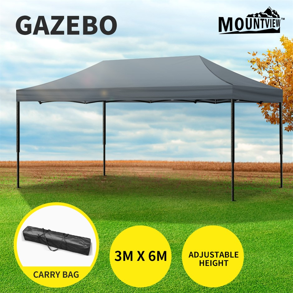 Mountview Gazebo Tent 3x6 Outdoor Marquee Gazebos Camping Canopy Folding
