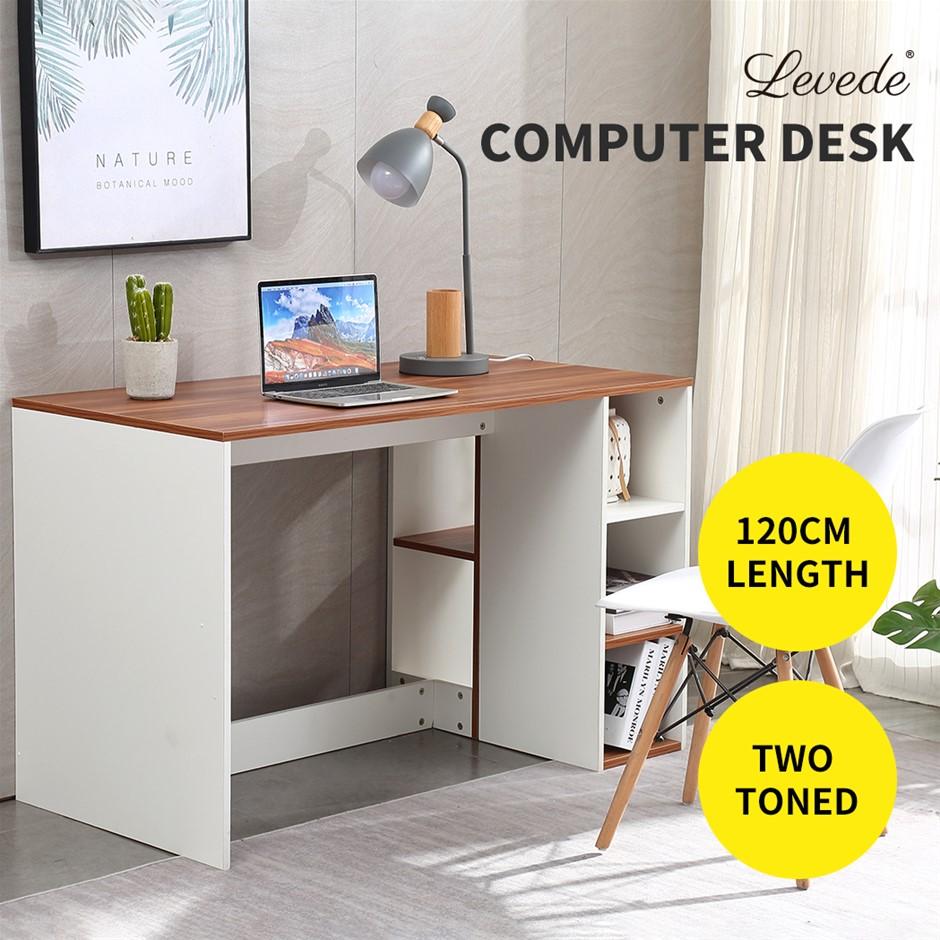 Levede Computer Desk Desks Home Office Desk Study Wood Space Saver Storage