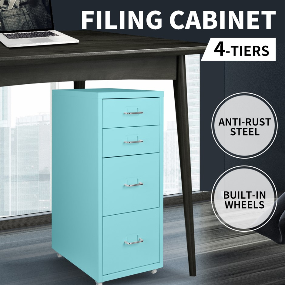 Metal File Cabinet Steel Orgainer With 4 Drawers Office Furniture Tiffany
