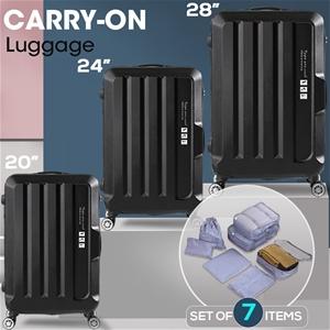 3 Pcs Luggage Set Travel Hard Case Light