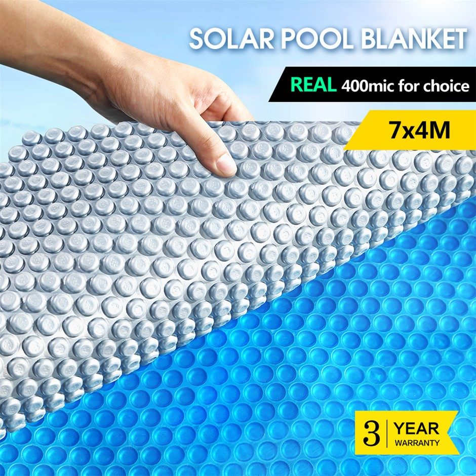 Solar Swimming Pool Cover 400 Micron Bubble Blanket Protector 7 X 4M