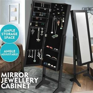Levede Mirror Two Doors Jewellery Cabine