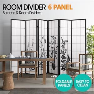 Levede Room Divider Screen 6 Panel Priva