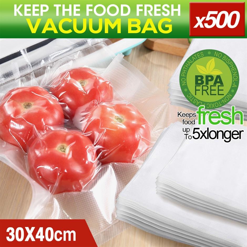 500x Commercial Grade Vacuum Sealer Food Sealing Bags Saver 30x40cm