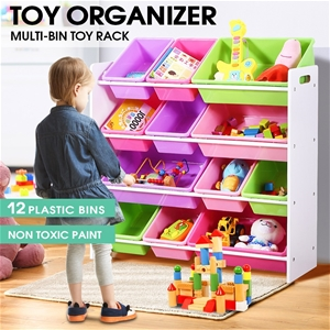 Levede 12Bins Kids Toy Box Bookshelf Org