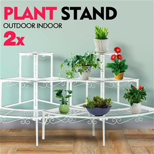 2x Levede Plant Stand Outdoor Indoor Met