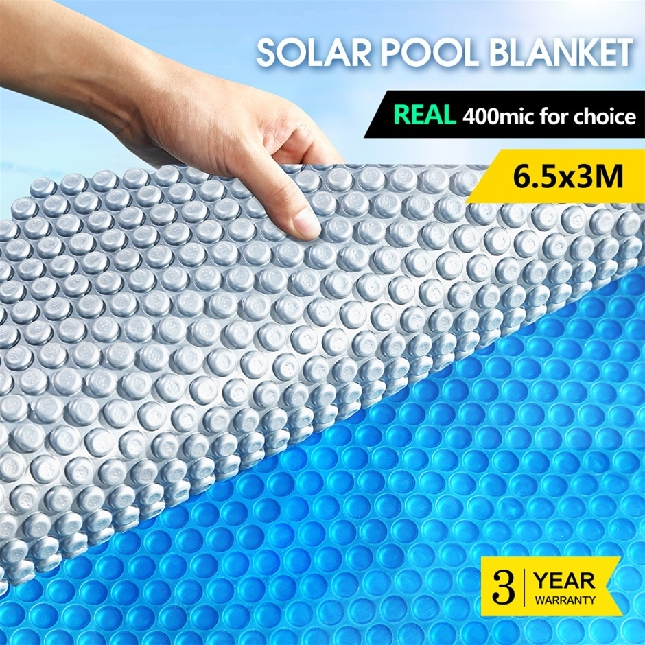 6.5x3M Real 400 Micron Solar Swimming Pool Cover Outdoor Blanket Isothermal