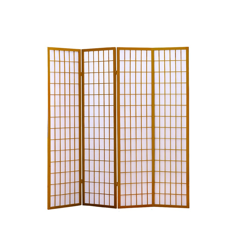 Levede 4 Panel Free Standing Foldable Room Divider Screen Wood Frame