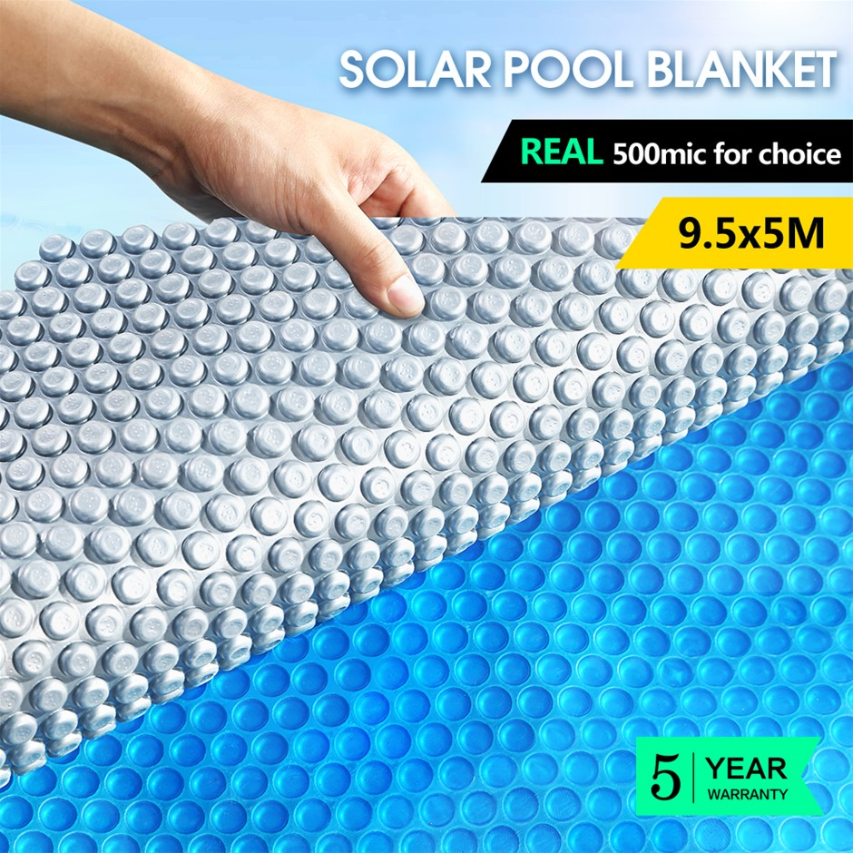 9.5x5M Real 500 Micron Solar Swimming Pool Cover Outdoor Blanket Isothermal