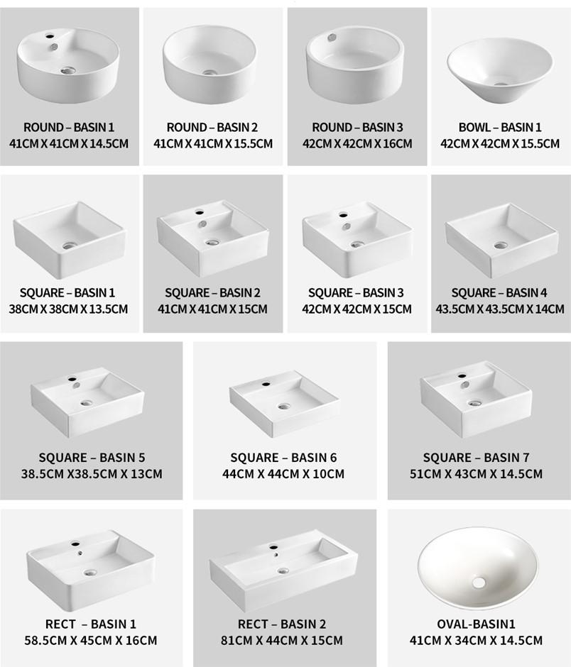 Ceramic Basin Bathroom Wash Counter Top Hand Wash Bowl Sink Vanity Above