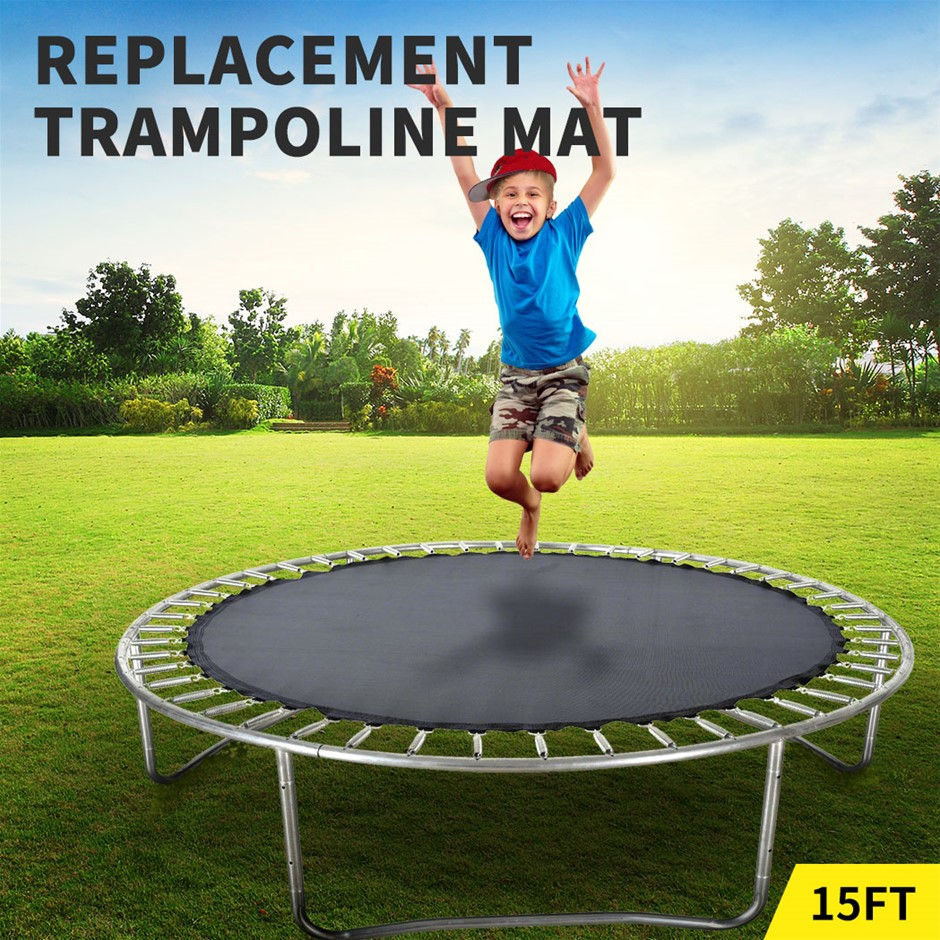 15 FT Kids Trampoline Pad Replacement Mat Reinforced Outdoor Round