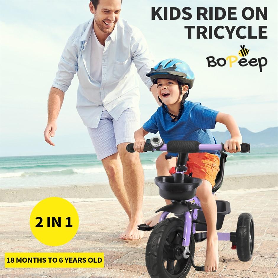 BoPeep Baby Walker Kids Tricycle Ride On Trike Toddler Bicycle Purple