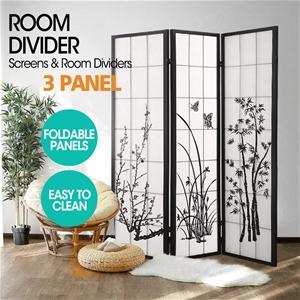 Levede Room Divider Screen 3 Panel Woode