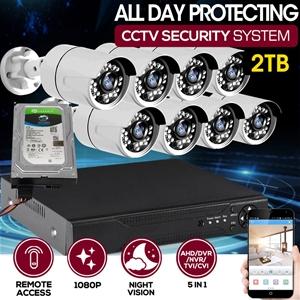 8CCTV Cameras 1080P HDMI 8CH DVR Securit