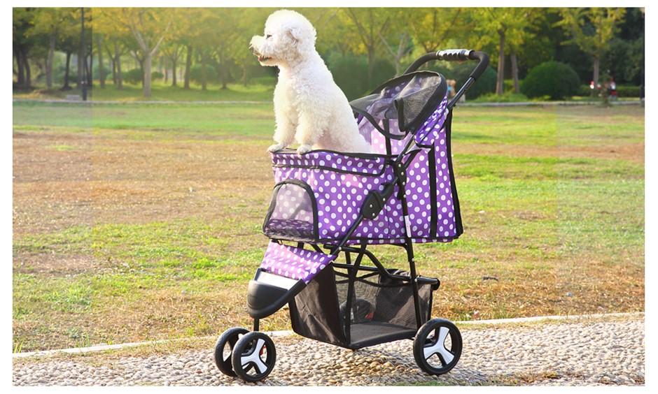 PaWz 3 Wheels Pet Stroller Dog Cat Cage Pushchair Travel Walk Carrier Pram