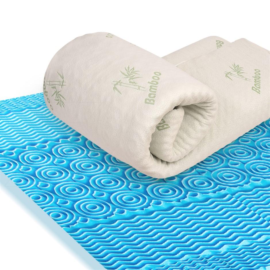 DreamZ 4cm Bedding Cool Gel Memory Foam Mattress Topper Bamboo Cover Double