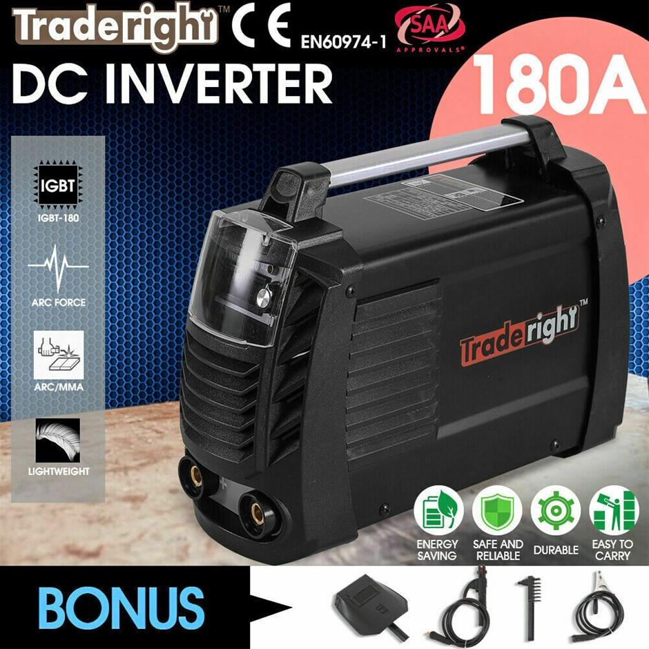 Traderight MMA 180Amp Welder DC iGBT Inverter ARC Welding Machine Stick