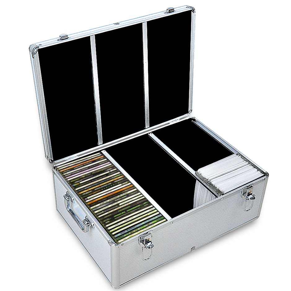 1000 Discs Aluminium CD DVD Cases Bluray Lock Box Organizer Free Inserts